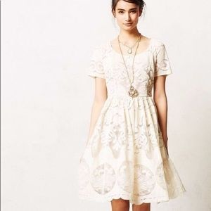 Anthropology Tracy Reece cream lace dress